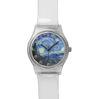 VAN GOGH Starry Night Roman Numerals Watch