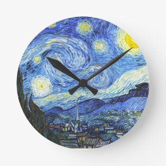 Van Gogh Starry Night Round Clock