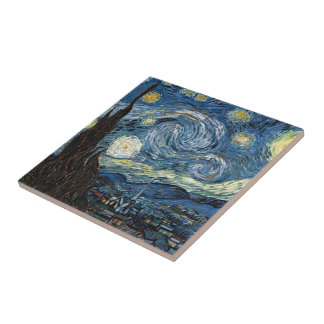 Van Gogh Starry Night Small Square Tile