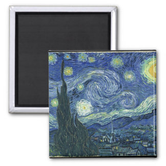 Van  Gogh Starry Night Square Magnet