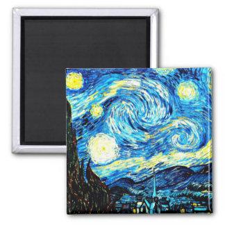 Van Gogh: Starry Night Square Magnet