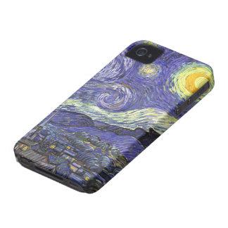 Van Gogh Starry Night, Vintage Fine Art Landscape Case-Mate iPhone 4 Case