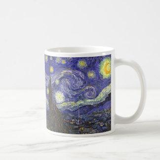 Van Gogh Starry Night, Vintage Fine Art Landscape Coffee Mug