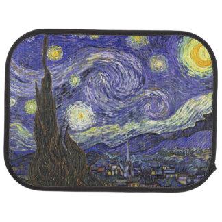 Van Gogh Starry Night, Vintage Fine Art Landscape Floor Mat