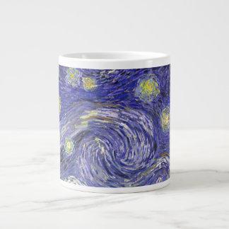 Van Gogh Starry Night, Vintage Fine Art Landscape Giant Coffee Mug
