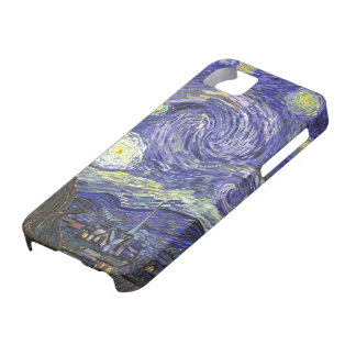 Van Gogh Starry Night, Vintage Fine Art Landscape iPhone 5 Cover