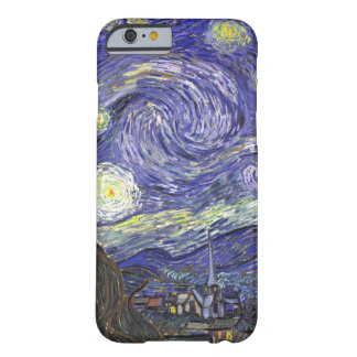 Van Gogh Starry Night, Vintage Landscape Art Barely There iPhone 6 Case
