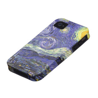 Van Gogh Starry Night, Vintage Landscape Art iPhone 4 Covers