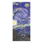 Van Gogh Starry Night, Vintage Landscape Art Customised Rack Card