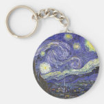 Van Gogh Starry Night, Vintage Post Impressionism Keychains