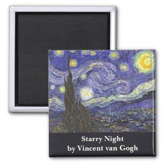 Van Gogh Starry Night, Vintage Post Impressionism Magnet