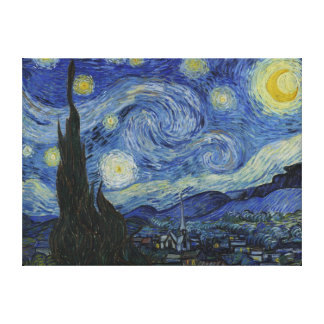Van Gogh Starry Night Wrapped Canvas