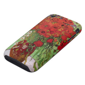 Van Gogh Still Life Flower Red Poppies and Daisies iPhone 3 Tough Cases