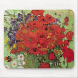 Van Gogh Still Life Flower Red Poppies and Daisies Mouse Mat