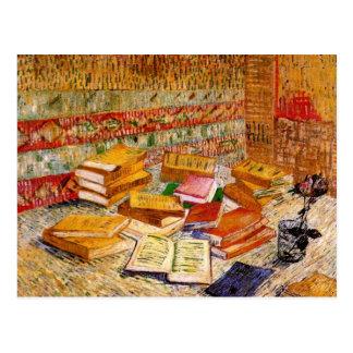 Van Gogh Still Life French Novels & Rose (F359) Postcard