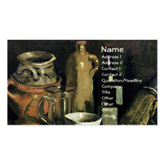 Van Gogh Still Life Pottery, Beer Glass and Bottle Business Card