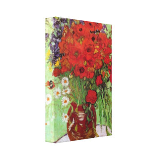 Van Gogh - Still Life Red Poppies and Daisies Stretched Canvas Prints