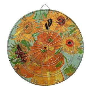 Van Gogh Still Life Vase with 12 Sunflowers Dartboard