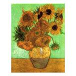 Van Gogh; Still Life: Vase with 12 Sunflowers Custom Announcement