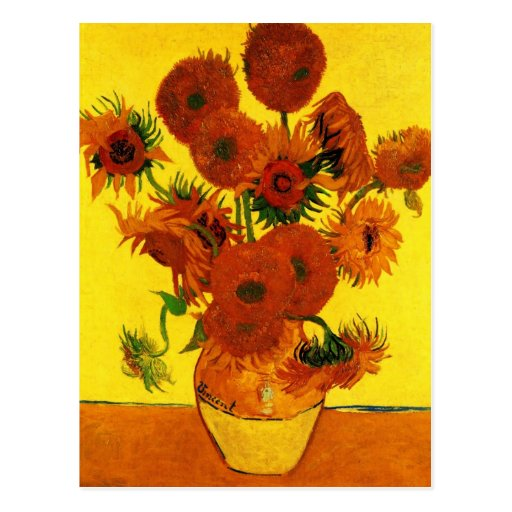Van Gogh; Still Life: Vase with 15 Sunflowers Post Cards