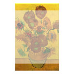 Van Gogh; Still Life: Vase with 15 Sunflowers Customised Stationery