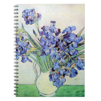 Van Gogh Still Life Vase with Irises Vintage Art Spiral Notebook