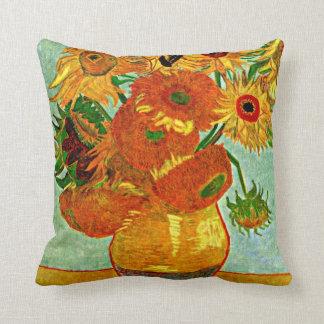Van Gogh: Still Life Vase with Twelve Sunflowers Cushion