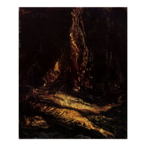 Van Gogh Still Life with Bloaters Vintage Fine Art Print
