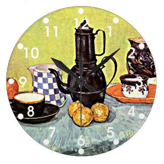 Van Gogh: Still Life with Blue Enamel Coffeepot Wallclocks