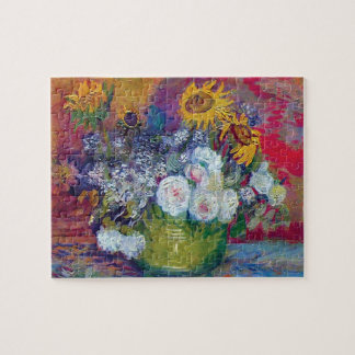 Van Gogh - Still Life With Roses And Sunflowers Jigsaw Puzzle