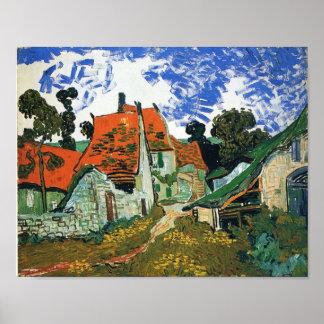 Van Gogh - Street in Auvers-sur-Oise Poster