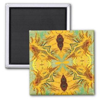 Van Gogh Style Abstract Sunflowers Fridge Magnets