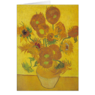 van Gogh - Sunflowers (1888) Stationery Note Card