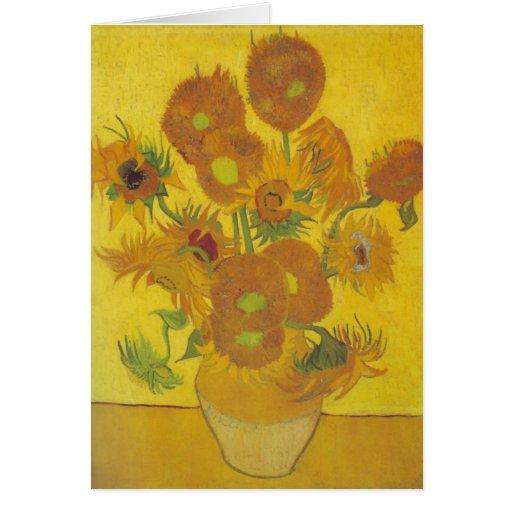 van Gogh - Sunflowers (1888) Greeting Card
