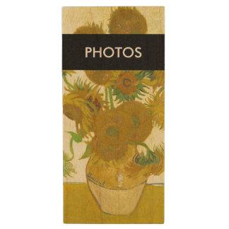 Van Gogh | Sunflowers | 1888 Wood USB 2.0 Flash Drive