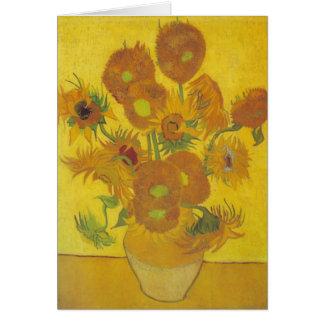 van Gogh - Sunflowers (1888) Note Card