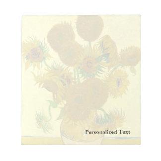 Van Gogh   Sunflowers   1888 Notepad