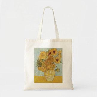Van Gogh - Sunflowers Tote Bags