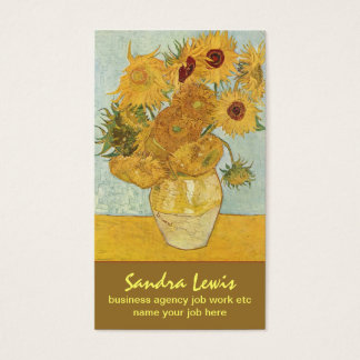 van gogh sunflowers business card