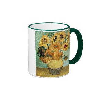 Van Gogh Sunflowers (F455) Vintage Fine Art Coffee Mugs