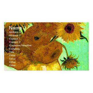 Van Gogh Sunflowers (F456) Vintage Fine Art Business Card Templates