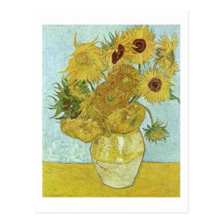 Van Gogh Sunflowers (F456) Vintage Fine Art Postcard