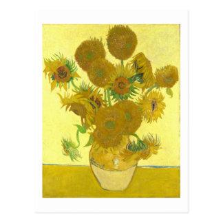 Van Gogh   Sunflowers I   Change of Address Postcard