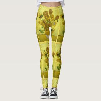 Van Gogh Sunflowers Leggings