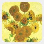 Van Gogh Sunflowers Stickers
