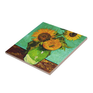 Van Gogh - Sunflowers Tile