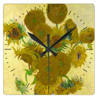 Van Gogh Sunflowers Timepiece Wall Clock