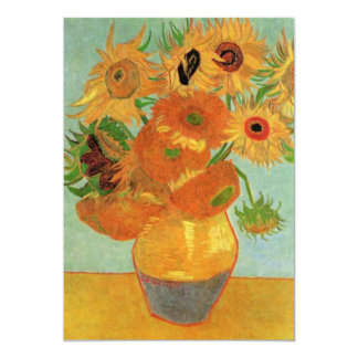 Van Gogh Sunflowers Wedding Invitation