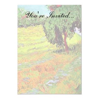 Van Gogh - Sunny Lawn In A Public Park 13 Cm X 18 Cm Invitation Card