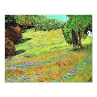 Van Gogh; Sunny Lawn in a Public Park Custom Invitation